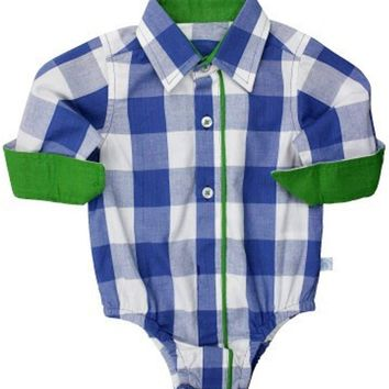 Sapphire Gingham Button-Up Body