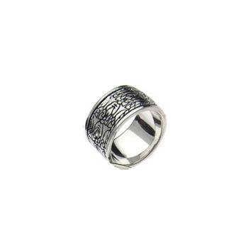 All The World's A Stage Sterling Silver Spinner Ring
