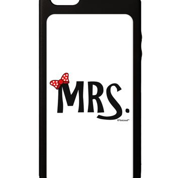 Matching Mr and Mrs Design - Mrs Bow iPhone 5C Grip Case  by TooLoud