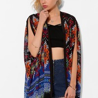 Staring At Stars Blanket-Print Kimono Jacket - Urban Outfitters