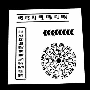 1PC Calendar Shaped Reusable Stencil Airbrush Painting Art DIY Home Decor Scrap booking Album Crafts