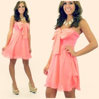RESTOCKED! Bring Me To Bali Strapless Dress Neon Pink