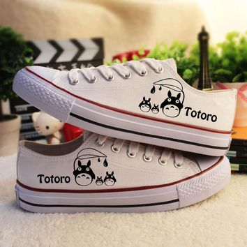 Summer  Hand Painted Shoes Lacing Casual Tennis Shoes