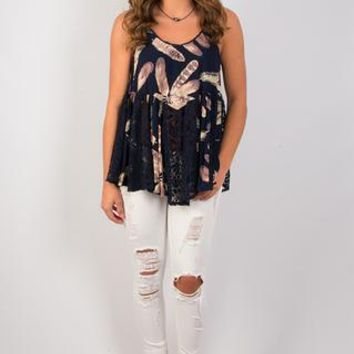 Feather Weather Lace Tank