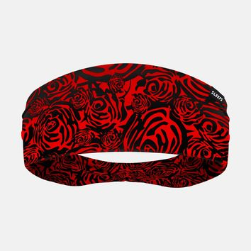 Roses Red and Black Headband