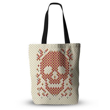 "Tobe Fonseca ""Deforestation"" Skull Illustration Everything Tote Bag"