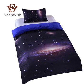 BeddingOutlet Hipster Galaxy Bedding Set Universe Outer Space Themed Galaxy Print Bedlinen Sheets Cheap Hot