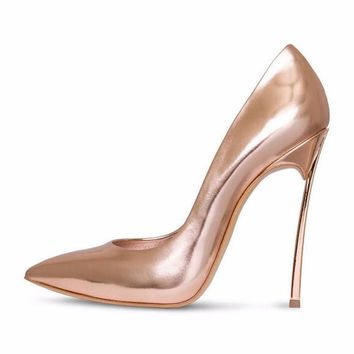 Pointed Toe Patent Pumps