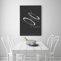 "Science Art Equation Formula Poster 24 x 36"" - Albert Einstein Math Quote - Mathematical / Physics / Scandinavian Design Wall Art Minimalist"