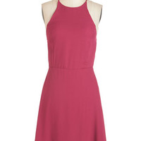 ModCloth Long A-line Refreshing Finesse Dress in Sangria