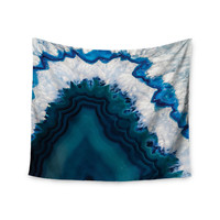 "Wall Tapestry - KESS Original ""Blue Geode"" Makes A Great Gift!"