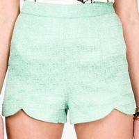 High-Waisted Metallic Tweed Shorts | FOREVER 21 - 2031796538