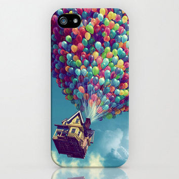 Up  Flying house 02 Hard iPhone 4/4s/5 case FREE by TICKandPICK