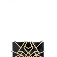 Brass Rectangle Clutch