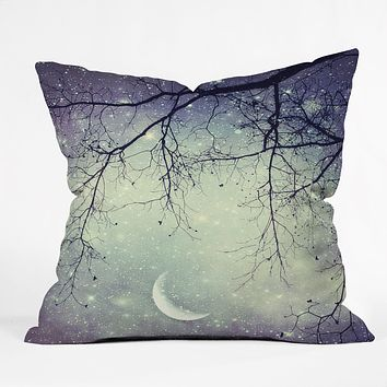 Shannon Clark Diamonds In The Sky Throw Pillow