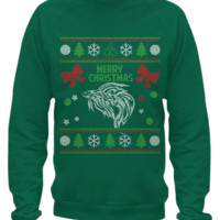 Betta fish - ugly christmas sweater printed betta