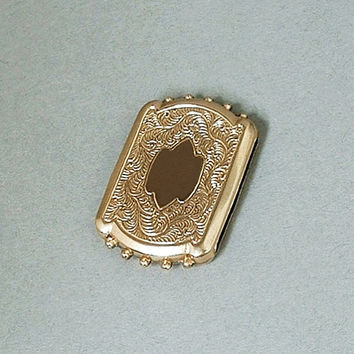 Antique VICTORIAN SLIDE for Watch Chain Bracelet Necklace PAISLEY Scrollwork c.1860's