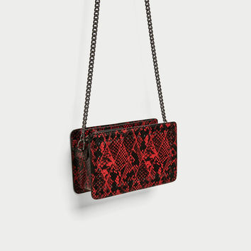 EMBOSSED CROSSBODY BAG WITH STUDS DETAIL