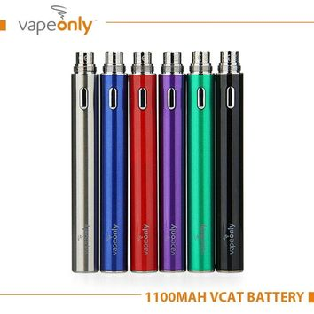 Original VapeOnly vCat Battery 1100mAh electronic Cigarette Battery for 510/eGo Thread Atomzier Battery eCig eGo Vape battery