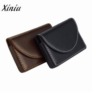 Mens Leather Credit Card Case For Business
