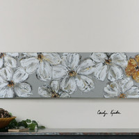 Stitched Daisies Floral Art