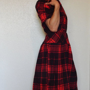 "Byer Too Plaid Flannel Dress 24-28"" waist"