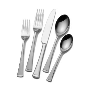 Gourmet Basics by Mikasa Traditional 45-piece Contempo Flatware Set | Overstock.com Shopping - The Best Deals on Flatware Sets