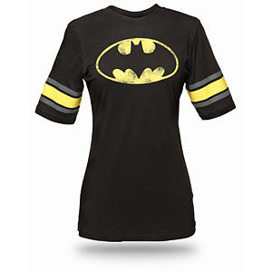 Batman Hockey Stripe Fitted Ladies' Tee