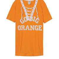 University Of Tennessee Lace-up V-neck Tee - PINK - Victoria's Secret