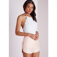 Missguided - Scallop Neck Bodysuit White