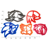 Sonic, Tails, Amy, Knuckles, and Shadow Cookie Cutter Set
