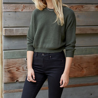 Lisakai Tuck Stitch Cropped Pullover Sweater at PacSun.com
