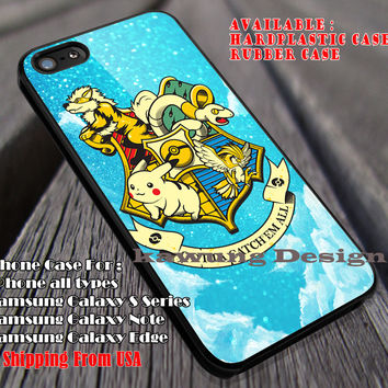 Cute Symbol, Pikachu Giffindor, Harry Potter, Pokemon, Marauders Map, case/cover for iPhone 4/4s/5/5c/6/6+/6s/6s+ Samsung Galaxy S4/S5/S6/Edge/Edge+ NOTE 3/4/5 #cartoon #animated #Pokemon #HarryPotter ii