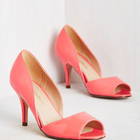 Spring to Mind Heel in Coral Gloss | Mod Retro Vintage Heels | ModCloth.com