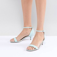 ASOS DESIGN Hex Barely There Kitten Heeled Sandals at asos.com