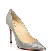Christian Louboutin - Patent Leather Point-Toe Pumps - Saks Fifth Avenue Mobile