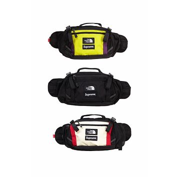 Supreme x The North Face co-branded men's and women's casual outdoor shoulder bag Messenger bag