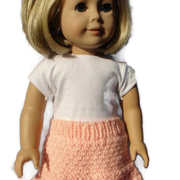 "Skirt Peach Knit 18"" Inch Doll Clothes"