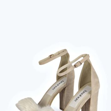 Fern Faux Fur Trimmed Block Heels