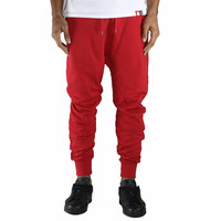 French Terry Joggers in Red