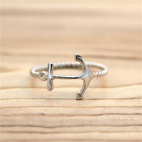 Silver Anchor Ring