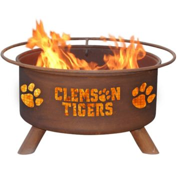 Clemson Steel Fire Pit by Patina Products