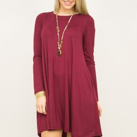 Perfect Long Sleeve Pocket Dress
