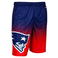 New England Patriots Official NFL Gradient Polyester Shorts