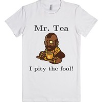 Mr. Tea-Female White T-Shirt