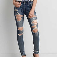 AEO Denim X Jegging, Super Destroy