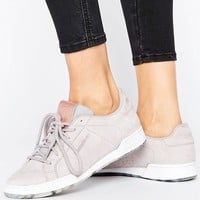 Reebok Npc Ii Sneakers With Guilded Edge In Whisper Gray at asos.com