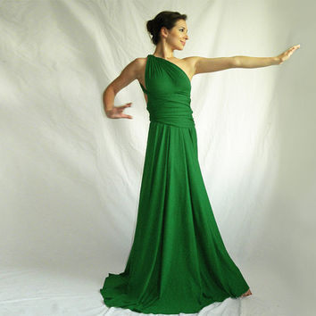 Convertible dress Infinity Wrap Chameleon Maxi Dress Grass Green bridesmaids dress
