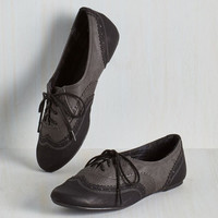 Menswear Inspired, Scholastic Class Forward Flat in Noir