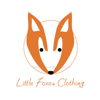 Premade Logo Design, Fox Logo, Clothing Logo, Logo Template, Customizable Business Logo, One of a Kind Logo, Children's Shop Logo